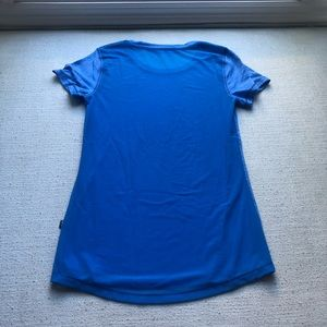 lululemon athletica Tops - LULULEMON blue tee with mesh backing